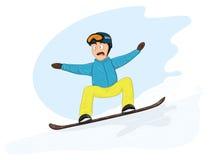 Newbie snowboarder Royalty-vrije Stock Foto's