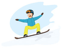 Newbie snowboarder Royalty Free Stock Photos