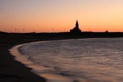 newbiggin θάλασσα Στοκ Φωτογραφίες