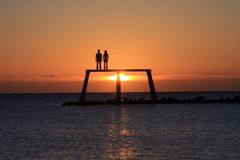 newbiggin morza Zdjęcie Royalty Free