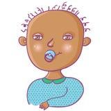 newborn мальчика милое иллюстрация штока