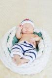 Newborn мальчик матроса Стоковые Фото