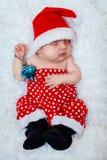 Newborn младенец santa Стоковые Изображения RF