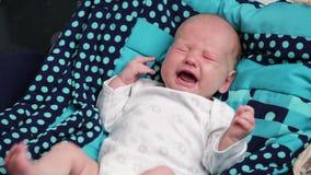 Newborn плакать младенца видеоматериал