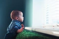 Newborn ребенок на зеленом крупном плане ковра стоковые изображения