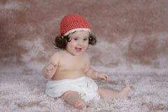 Newborn счастливая девушка стоковое фото