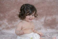 Newborn улыбка девушки Стоковое Фото
