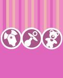 девушка карточки младенца newborn Стоковое Изображение