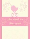 Newborn. Celebratory card. With the newborn Vector Illustration