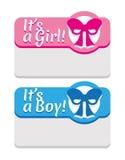 Newborn Announcement Card Template Stock Photo
