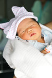 Newborn Asian baby girl Royalty Free Stock Image