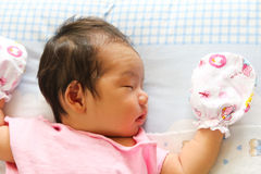 Newborn Asian baby girl Royalty Free Stock Photography
