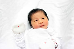 Newborn asian baby girl young youth cute concept Royalty Free Stock Photography