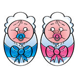 Newborn babies Royalty Free Stock Image