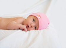 Newborn Baby. Against a White Background Stock Photo