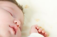 Newborn baby. Closeup portrait of sleeping newborn baby Royalty Free Stock Photos