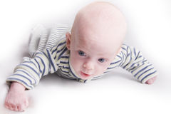 Newborn baby. Over light background Stock Photo
