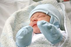 Newborn baby. Stock Image