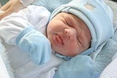 Newborn baby. Stock Photo