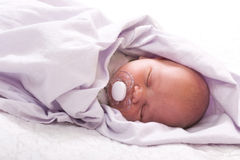 Newborn baby (at the age of 7 days) Royalty Free Stock Image