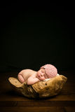 newborn baby asleep Royalty Free Stock Image