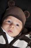 Newborn baby boy stock photo