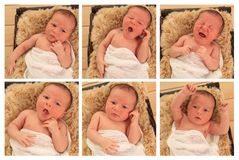 Newborn baby boy Royalty Free Stock Images