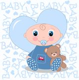 Newborn baby boy Royalty Free Stock Photo
