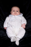 Newborn Baby Boy in Blessing Outfit Stock Image