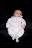 Newborn Baby Boy in Blessing Outfit Royalty Free Stock Image