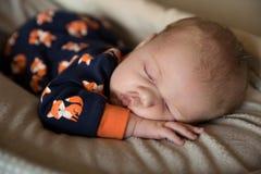 Newborn baby boy Stock Photos