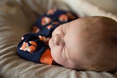 Newborn baby boy Stock Image
