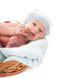 Newborn baby boy Royalty Free Stock Photos