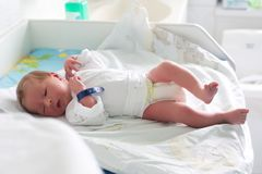 A newborn baby Stock Photos