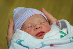 Newborn Baby Boy Just Born Stock Images