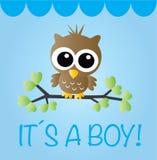 Newborn baby boy or baby shower. Newborn baby boy baby shower Stock Image