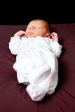 Newborn baby boy sleeping Stock Photos