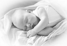 Newborn baby breast feeding Royalty Free Stock Photos