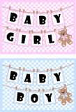Newborn baby cards. For girls and boys vector illustration