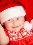 Newborn baby on Christmas eve Royalty Free Stock Photography
