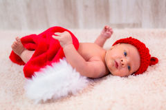 Newborn baby for christmas Royalty Free Stock Images
