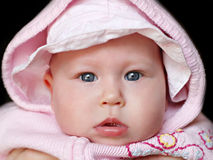Newborn baby close up Stock Image