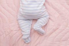 Newborn baby closeup Stock Photos