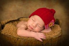 Newborn baby closeup Stock Photography