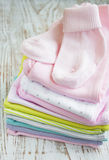 Newborn Baby Clothes Stock Images
