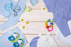Newborn baby clothes Stock Image
