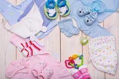 Newborn baby clothes Royalty Free Stock Photos