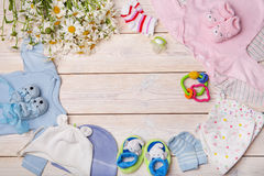 Newborn baby clothes Royalty Free Stock Photo