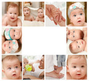 Newborn baby collage Royalty Free Stock Photography