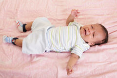 Newborn baby cries Stock Photography